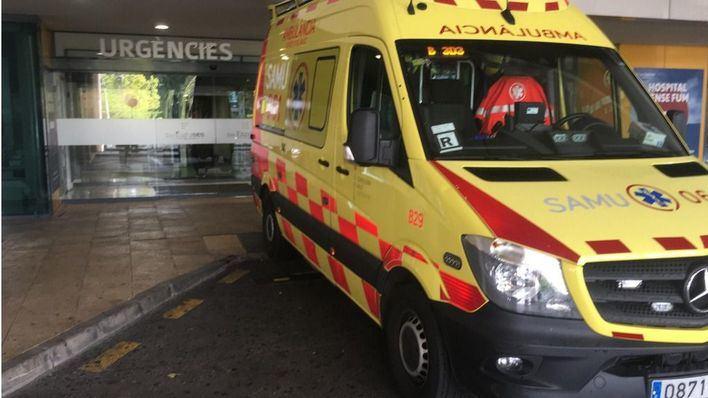 Una motorista, grave tras sufrir un accidente a la altura de Aqualand de S'Arenal