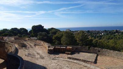 La reforma del Castell de Bellver avanza a buen ritmo tras un primer mes en obras