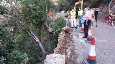 Reconstruyen el muro de piedra en seco del Port de Valldemossa afectado por la DANA