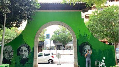Cort da marcha atrás y eliminará el mural de la puerta del parque ses Veles