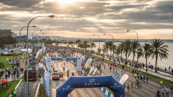 Centro de Palma y Paseo Marítimo, cortados al tráfico este domingo por la Marathon
