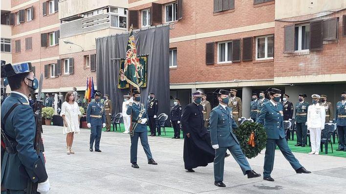 Los héroes de la pandemia y Sant Llorenç, reconocidos por la Guardia Civil en su Patrona