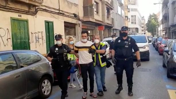 Cinco detenidos en la operación policial desplegada contra un grupo okupa en Pere Garau