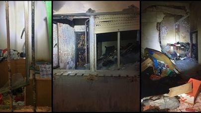Un incendio destruye una planta baja en Son Gotleu