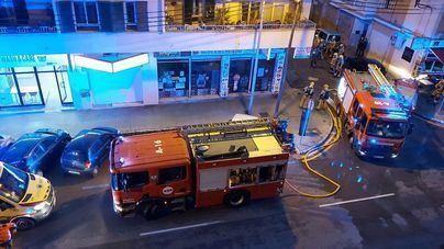 Un herido en un incendio en un supermercado de Palma