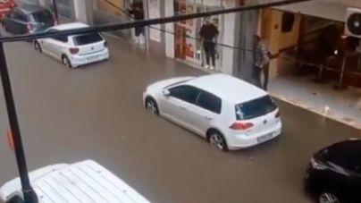 Incidencias en carreteras de Ibiza por las intensas lluvias