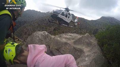 La Guardia Civil rescata a un joven excursionista en el Torrent de Pareis tras fracturarse el tobillo