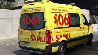 El herido fue trasladado en ambulancia hasta la Policlínica