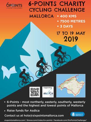 Calvià acoge el '6 Points Cycling Challenge', una ruta ciclista de 400 kilómetros