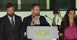 Vox, tercera fuerza política del país con 52 escaños