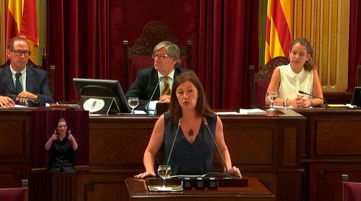 VIDEO Discurso de investidura de Francina Armengol como candidata a presidenta del Govern