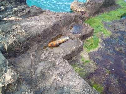 Retiran una bomba de la Guerra Civil encontrada en el mar en Palma