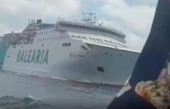 Dos buques a punto de colisionar entre Ibiza y Formentera