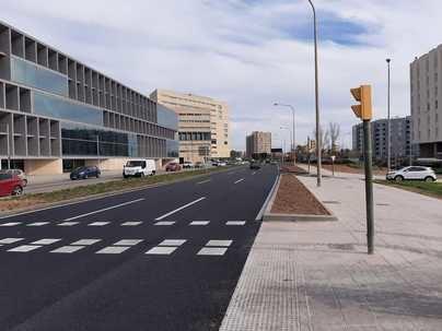 Finalizan las obras de entrada a Palma con vistas al futuro gran bulevar del Paseo Marítimo