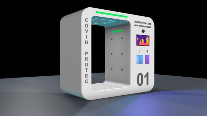'Estación Covid-19', la creación mallorquina para detectar fiebre y desinfectar con ozono
