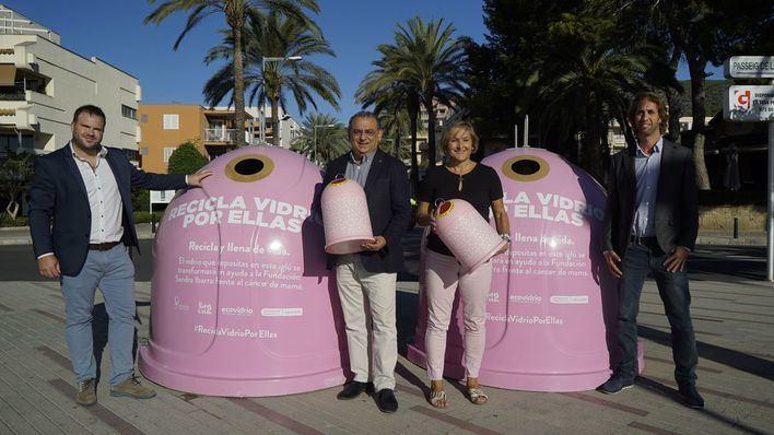 Calvià y Ecovidrio presentan la campaña Recicla Vidrio por ellas