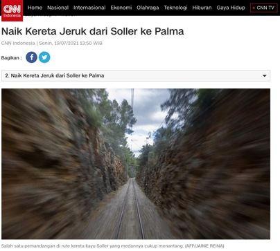 Pantallazo de la edición web de CNN en Indonesia