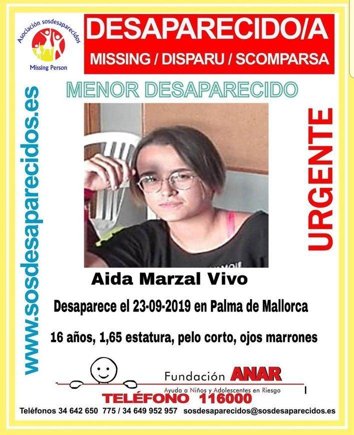 Alerta por la desaparición de una joven de 16 años en Palma