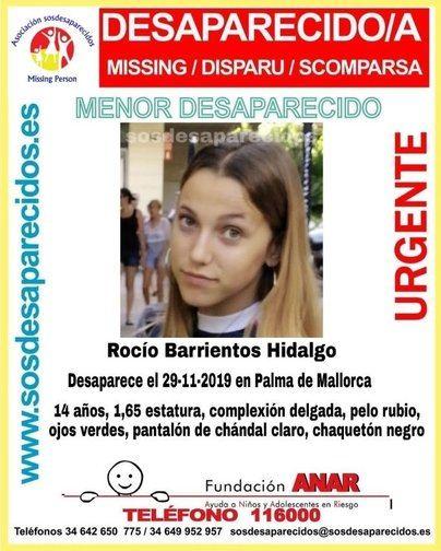 Buscan a una chica de 14 años desaparecida en Palma el pasado viernes