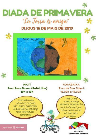 Cuatro barriadas de Palma acogen la Diada de la Primavera bajo el lema 'La tierra es amiga'