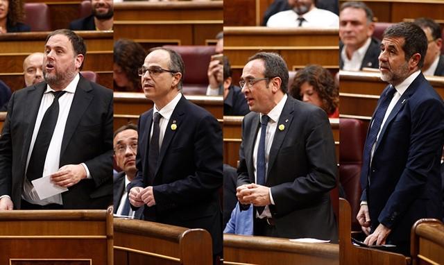 La Mesa del Congreso suspende a los cuatro diputados presos por el 'procés'