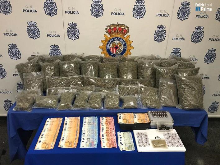 Detenidas tres personas por vender drogas en un local de Can Valero en Palma
