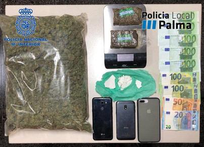 Detenidos en Palma por intentar vender drogas en las cercanías de los colegios