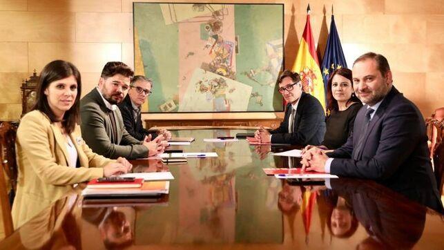 Termina sin acuerdo la segunda reunión entre el PSOE y ERC