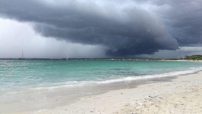 Baleares, en alerta por los vientos que deja la borrasca Hortense