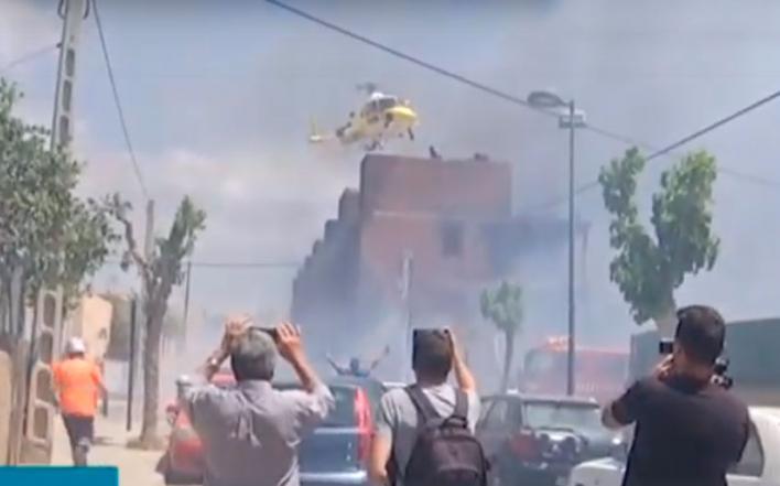 Tres heridos críticos en un incendio de un edificio okupado de Ibiza