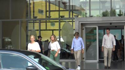La infanta Cristina y sus hijos visitan al Rey emérito Juan Carlos