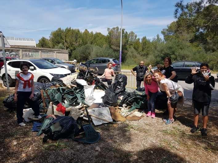 Voluntarios recogen 500 kilos de basura en s'Arenal de Llucmajor