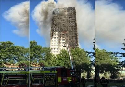 6 muertos y 50 heridos en un incendio en Londres