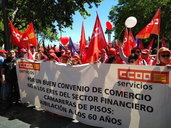 Los sindicatos se concentran en Palma para celebrar el 1 de Mayo bajo el lema