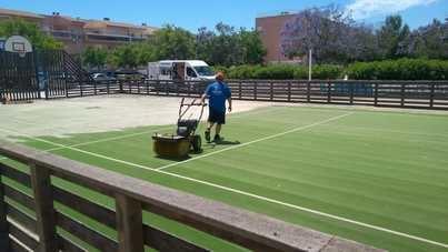 Marratxí realiza obras de mejora en las pistas multideportivas de Can Malvasia y Ses Cases Noves