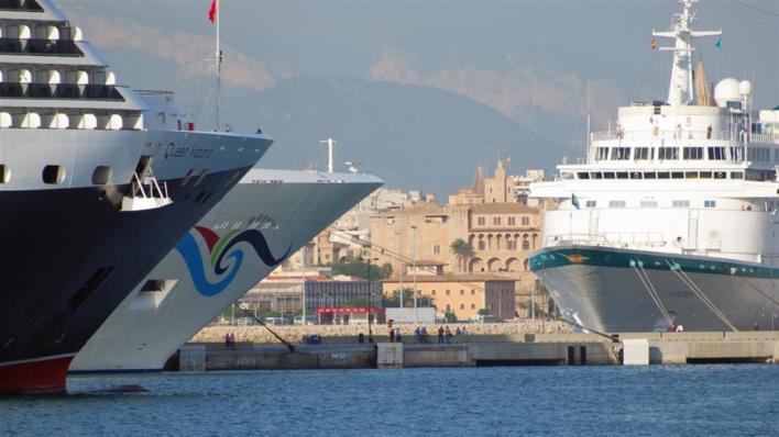 Entidades vecinales de Palma cargan contra los megacruceros