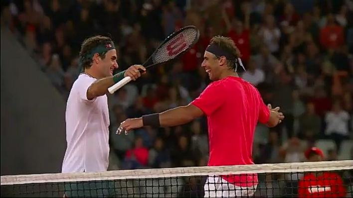 Nadal y Federer protagonizan el partido con más público de la historia