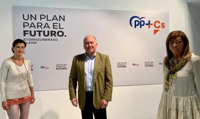 PP+Cs logra su sexto parlamentario tras arrebatárselo a EH Bildu en Vizcaya