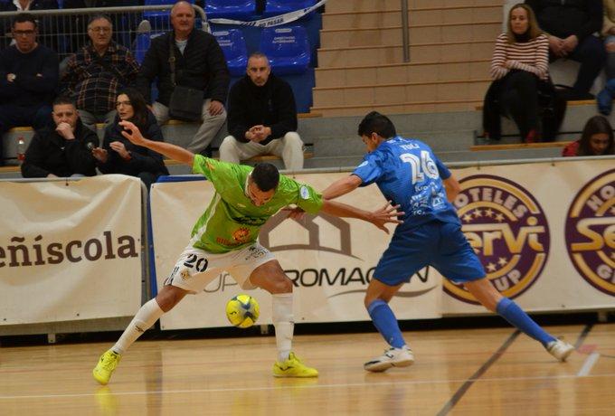 El Palma Futsal no consigue ganar en el fortín del Peñíscola (3-2)