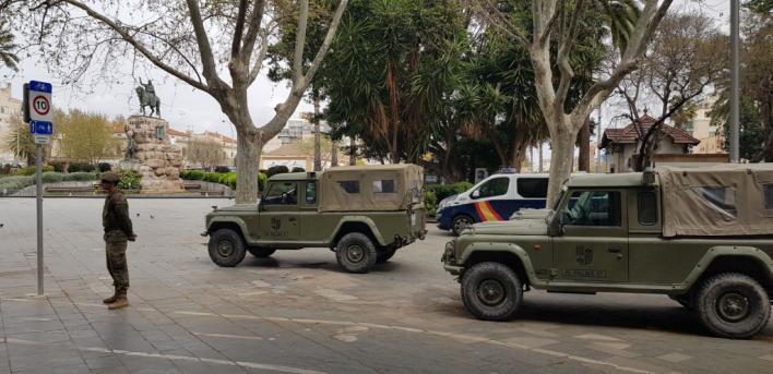 El Ejército despliega en Palma efectivos para luchar contra el coronavirus