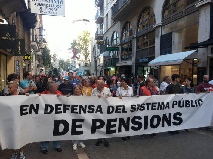Manifestación en Palma para reinvidicar pensiones