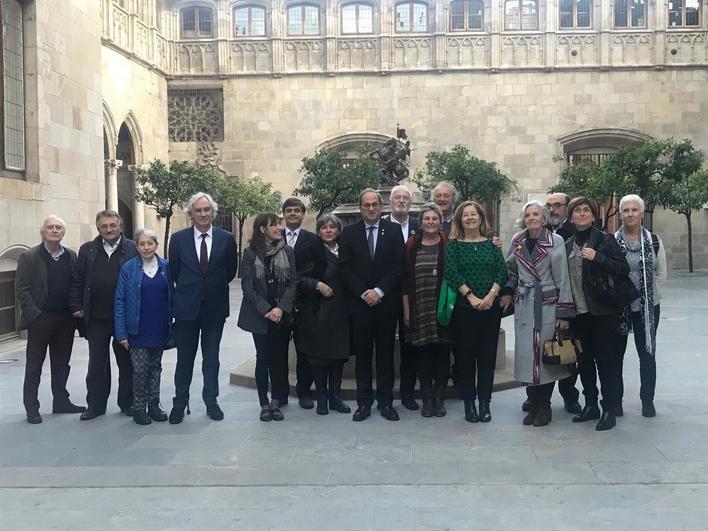 Una delegación mallorquina se reúne con Torra para expresarle su apoyo