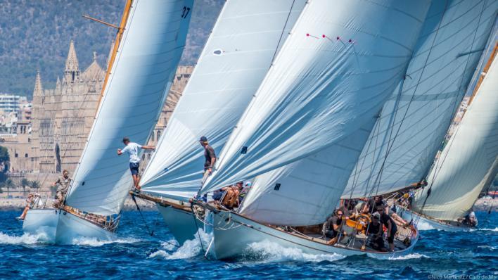El viento brinda un estreno de lujo de la XXV Regata Illes Balears Clàssics