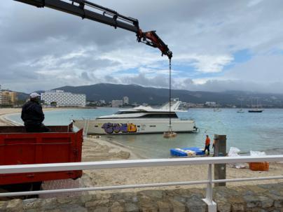 78.650 euros para desguazar el yate varado en Son Maties
