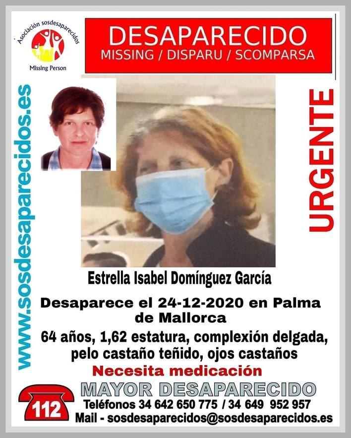 Solicitan ayuda para localizar a una mujer desaparecida en Palma