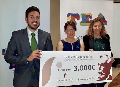 Sa Fundació dona 1.000 euros para terapias de ayuda a niños con autismo