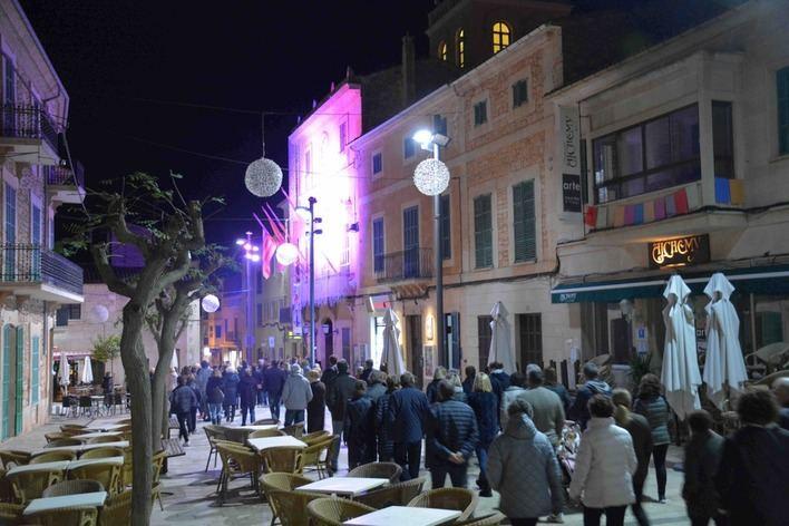 Santanyí celebra una marcha silenciosa para conmemorar el 25N