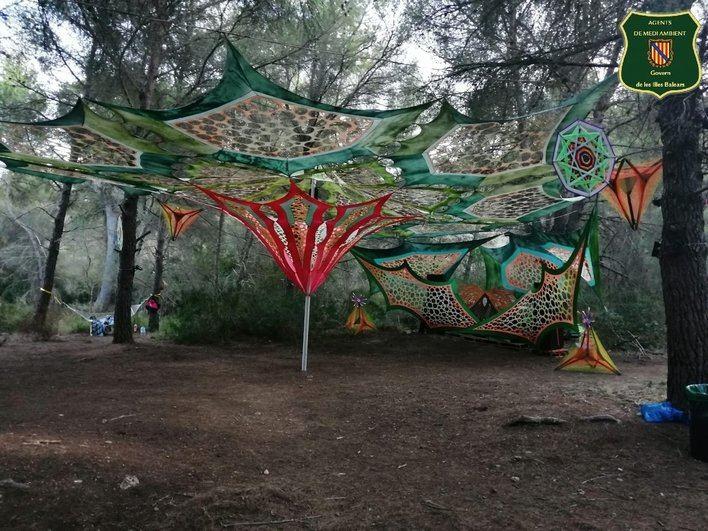 El Seprona paraliza una rave en una zona protegida de Artà