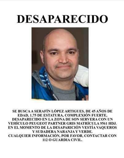 Buscan a Serafín.L.A, conocido fotógrafo de eventos desaparecido por la zona de Son Servera
