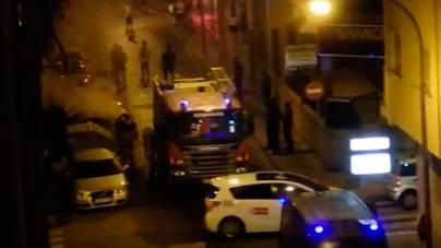Unos vándalos queman contenedores en S'Arenal